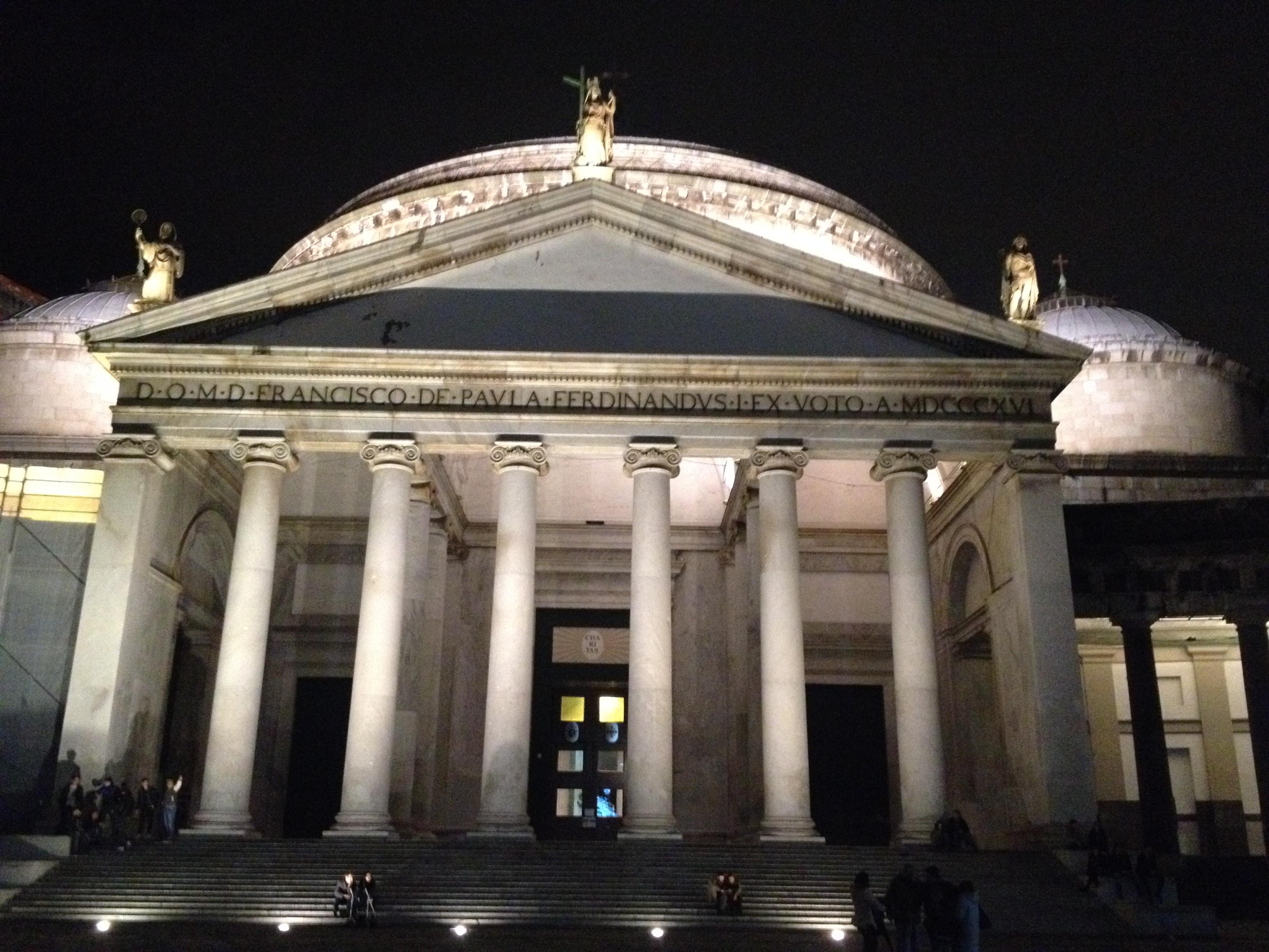 Basilica piazza plebiscito napoli napoli centro storico for Esterno pantheon